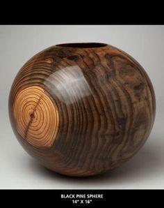Moulthrop Studios Black Pine Wood Turned Bowls, Wood Bowls, Cool Wood Projects, Wood Turning Projects, Wooden Vase, Wood Creations, Wood Lathe, Made Of Wood, Wood Sculpture