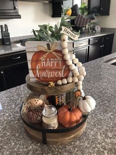 Excited to share this item from my shop: Harvest Brand New! Harvest Two Tiered Tray Harvest Tier Tray Decor Fall Harvest Regular Package Deluxe Package Harvest Decor Fall