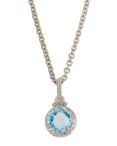 La Petite Blue Topaz Pendant Necklace by Judith Ripka at Neiman Marcus Last Call.