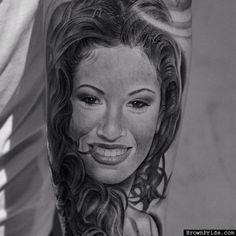 Selena Tattoo by Miguel Ochoa Lowrider Tattoo Studios