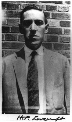 H.P. Lovecraft This photo is quite telling of the type of person H.P. Lovecraft was. He clearly looks angry and dark in this photograph emphasizing his focus on many Gothic elements in his works.
