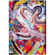 Oliver Gal Artist Co 'Love Remix' Canvas Art by Tiago Magro (16x24)