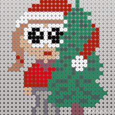 Christmas Perler Beads, Christmas Cross, Christmas Holidays, Hama Beads Patterns, Beading Patterns, Melting Beads, Christmas Inspiration, Pixel Art, Cross Stitch Patterns