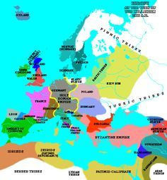 Europe at the turn of the millenium 1000 AD
