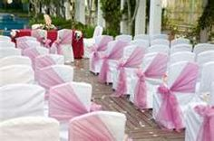 This could be a pretty decor for the ceremony and less costly than one on every chair. EVERY LITTLE BIT HELPS!