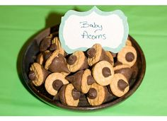 Tinkerbell Party Theme - Baby Acorn Treats  ***need a different kind of cookie. no peanut putter***  hmmm