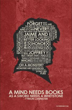 Game of Thrones Tyrion Lannister Quote Poster by OutNerdMe