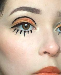 Retro Makeup, Edgy Makeup, Eye Makeup Art, Cute Makeup, Makeup Inspo, Makeup Inspiration, Makeup Looks, Hair Makeup, Grunge Makeup