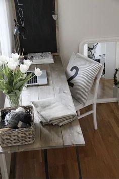 Bildergebnis Für Schreibtisch Lang Schmal Arbeitsplatte | Home | Pinterest  | Study Office, Interiors And Apartments