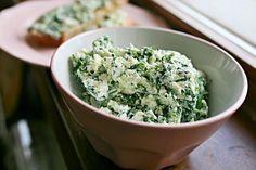 Špenátová pomazánka Ricotta, Guacamole, Rice, Cooking Recipes, Breakfast, Ethnic Recipes, Food, Spreads, Fitness