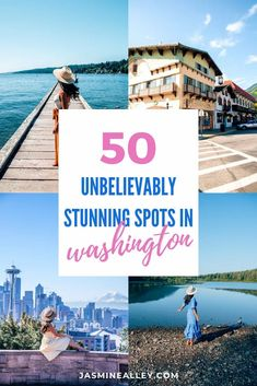 These 50 most beautiful places in Washington state are going to blow you away! For a Pacific Northwest road trip or Washington state travel ideas, check out these unbelievable places in Washington! If youre looking for photography spots in Washington, things to do in Washington, or best places to visit, look no further. From Mount Rainier and Olympic National Park to Seattle and Leavenworth, these spots are all over the state, categorized by area. #mountrainier #washingtonstate #travel #seattle