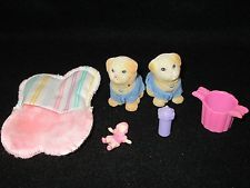 Vtg Littlest Pet Shop 1995 Sweet Sleepy Puppy Soft Pet Dogs TWINS! Bonus!