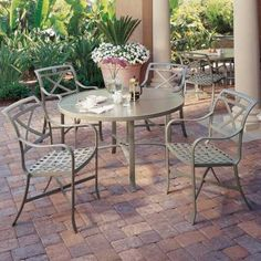 Palladian cast aluminum outdoor furniture collection by Tropitone. Available from Rich's for the Home http://www.richshome.com/