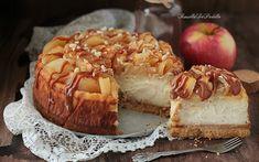 Jablkový a karamelový tvarohový koláč