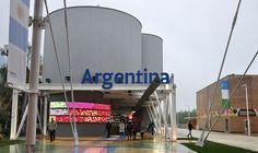Outside the Argentina Pavilion