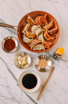 This dumpling sauce recipe makes the perfect dipping sauce for taking your favorite homemade or store-bought dumplings to the next level. Pork And Chive Dumplings, Best Dumplings, How To Make Dumplings, Vegetable Dumplings, Dumpling Recipe, Chinese Dumplings, Dumpling Dipping Sauce, Dipping Sauces, Sauce Recipes