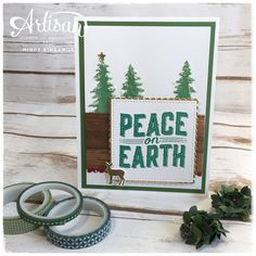 Break out the embossing paste and the new card front builder thinlits to make your own masks and create stunning Christmas cards with the carols of Christmas stamp set ~  Mindy