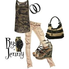 Camo Fashion.  Fall Fashion.  Street Style. #camo #fallfashion #trends #streetstyle