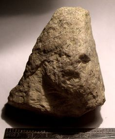 Limestone Figure from archaeological site 33GU218 in Guernsey County, Ohio