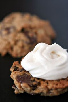 Oatmeal Cookie Moon Pies - with a marshmallow cream cheese filling!