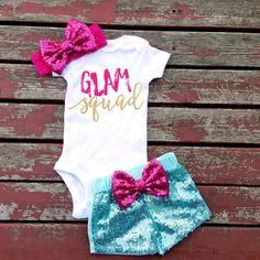 Glam Squad Baby Girl Bodysuit/Top