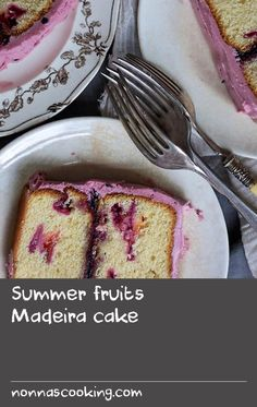 Summer fruits Madeira cake | Madeira cake did not originate in the Madeira Islands, rather from the Portuguese Madeira wine that would have traditionally been served with this tea cake in Ireland and the UK many years ago. This wildly popular (and, once new-to-me), beautifully buttery, dense cake is normally prepared with just a touch of lemon zest, but I've pushed the limits and made it rich with summer fruits, balanced with a creamy mascarpone, cassis-spiked icing. I added blackcurrant jam…