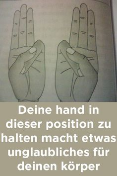 Deine hand in dieser position zu halten macht etwas unglaubliches für deinen körper Yoga Fitness, Health Fitness, Hand Mudras, Home Remedies Beauty, Healing Hands, Anti Stress, Reflexology, Ayurveda, Natural Health