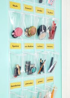Get super organized with an over-the-door shoe rack that's labeled to perfection.