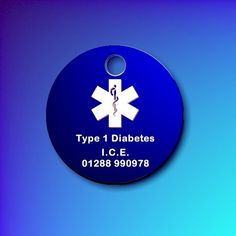 Aluminium Medic Alert or I.C.E tag WITHOUT tab