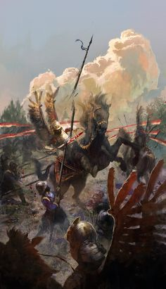 hussari by aleksander rostov Spectrum The Best in Contemporary Fantastic Art Fantasy Armor, Medieval Fantasy, Military Art, Military History, Wow Art, Historical Art, Knights Templar, Fantastic Art, Fantasy Characters