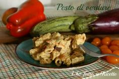 Pasta con pesto di verdure bimby Pesto, Chicken, Vegetables, Dolce, Food, Essen, Vegetable Recipes, Meals, Yemek