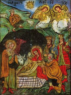 Mystagogy Resource Center is an International Orthodox Christian Ministry headed by John Sanidopoulos. Nativity Creche, Christmas Nativity, Nativity Scenes, Christian Artwork, Christian Images, Religious Icons, Religious Art, Delft, The Birth Of Christ