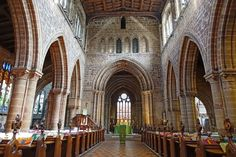 The interior of St Mary's Church Stafford Staffordshire England
