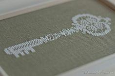 Lace key by Tatyana_posidelki, via Flickr