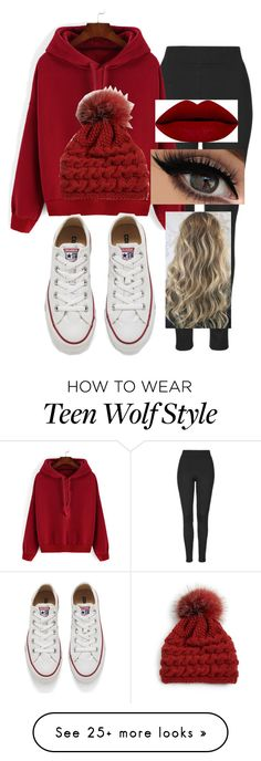 """""""Teen Wolf Edit: Beacon Hills Lacrosse Game"""" by aneeshbeahlen on Polyvore featuring Topshop, Converse, Inverni, women's clothing, women's fashion, women, female, woman, misses and juniors"""