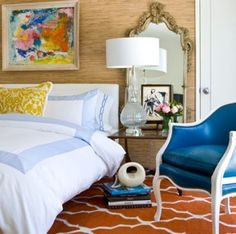 We have a mirror like this in the store  - love it behind the nightstand!