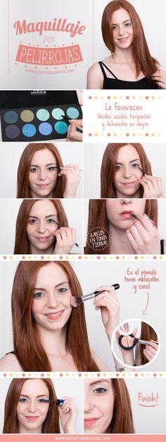 Maquillaje para pelirrojas