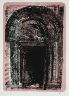 John Piper, '1. Kilpeck, Herefordshire: the Norman South Door' 1964