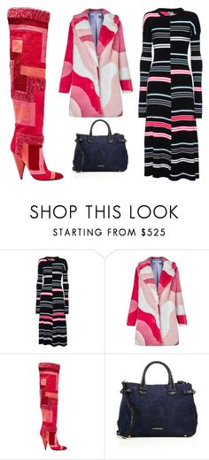 """""""A Pop of Pink"""" by leiastyle on Polyvore featuring Kenzo, VIVETTA, Tom Ford and Burberry"""