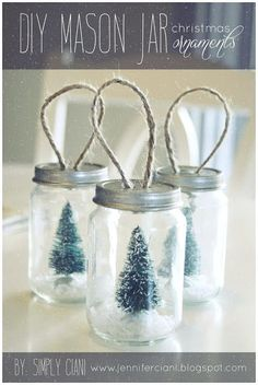 diy mason jar crafts | DIY Mason Jar Ornaments | Holiday Craft Ideas
