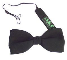Small Black Pure Silk Bow Tie Everyday Formal Or Funeral