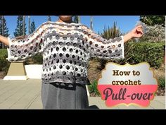 How to crochet Pull-over - YouTube