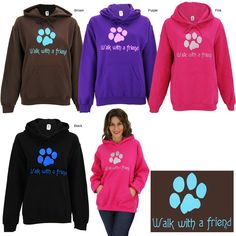 Buye one of these cute sweatshirts and it feeds 28 bowls of food for shelter animals.  I have one it's great quality