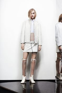 liking the two-tone white on top. pre-fall 2012: Acne