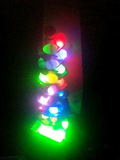 lighting up a singing marble tree for night time play!
