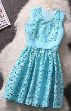 Stylish blue dress