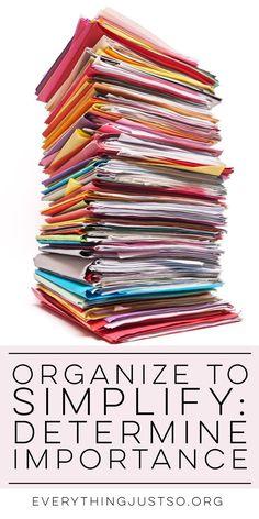 Organize to Simplify