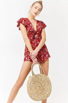 Product Name:Floral Print Romper, Category:dress, Price:15.9