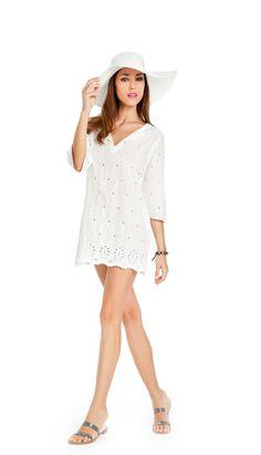 noidìnotte Collezione Spring/Summer 2012  € 25,90  ABITINO DONNA JASMINE MANICA 3/4 TESSUTO SAN GALLO   #pigiama #easywear #look