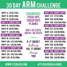 Join me for a 30 Day Arm Challenge, perfect for toning those arms for tank top weather!